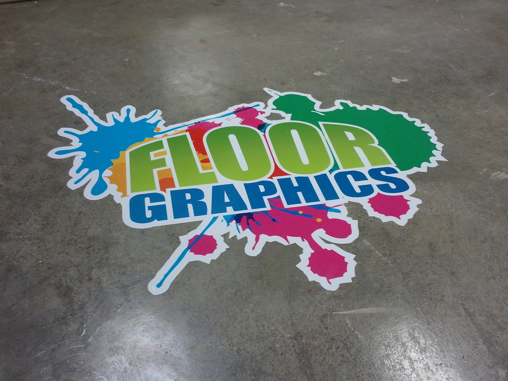 Floor graphics sign creations your building and for Floor stickers